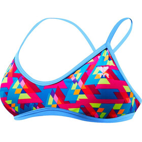 TYR Le Reve Trinity Top de bikini Mujer, pink/turquoise